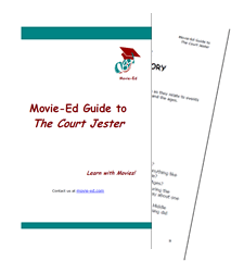 A Movie-Ed Guide is in PDF format, two pages to a standard sheet, containing at least 16 pages of interesting questions and activities.